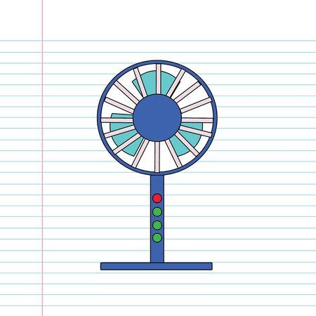 hand drawn cartoon: vector dibujado a mano de la historieta de ventilador Vectores