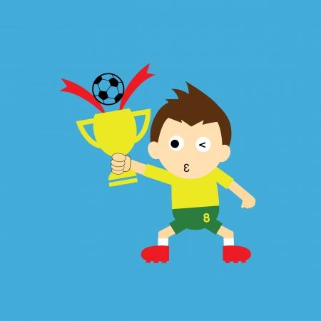 cartoon sport: vector cartoon sport champions cup  Illustration