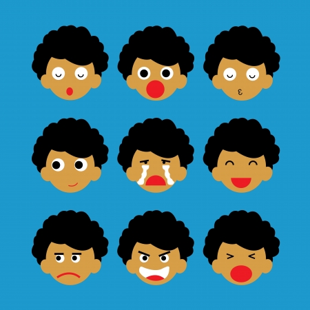sad face: emotion vector cartoon style for use