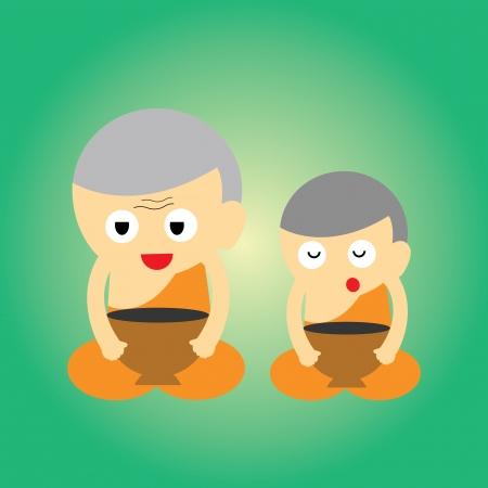 monk vector cartoon style for use Stock Vector - 21315291