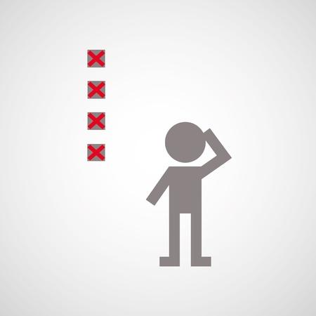 checklist symbol for gray background Stock Vector - 21315328