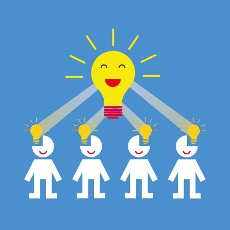 creative teamwork symbol for blue background Vector