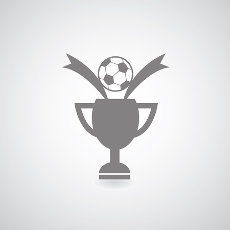 Champions Cup symbol on gray background