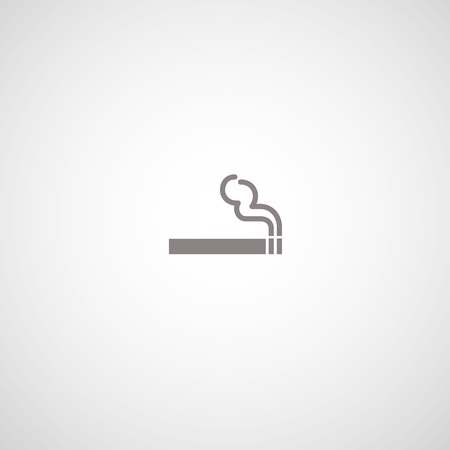 smoke symbol on gray background