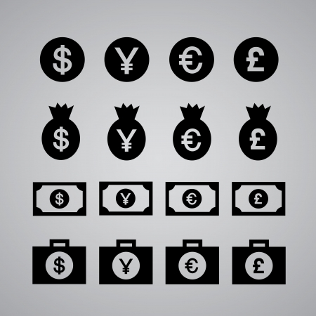 money icon symbol on gray background