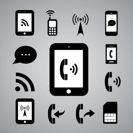 wifi access: tecnologia simbolo su sfondo grigio