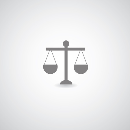 felon: scales of justice on gray background