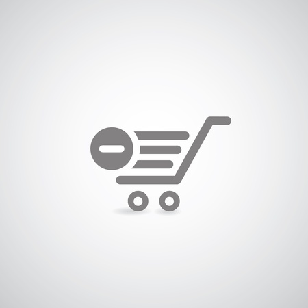 cart symbol on gray background Stock Vector - 21569144