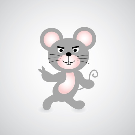 unprotected: mouse vector cartoon style for use Illustration