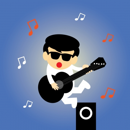 music vector cartoon style for use Vector