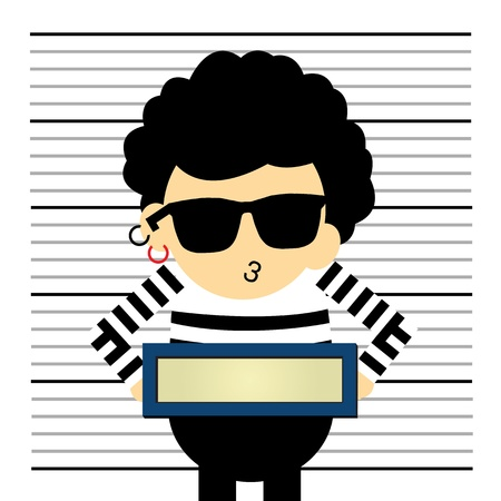 mugshot: Prisoner vector cartoon style for use