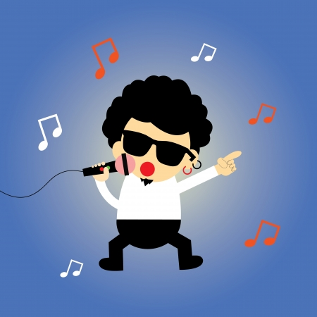 singer star vector cartoon style Vector