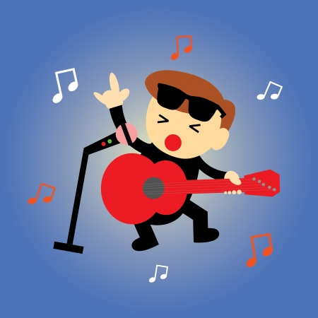 inlove: singer star vector cartoon style Illustration