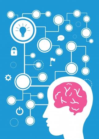 style cartoon vecteur de cerveau pour une utilisation Vecteurs