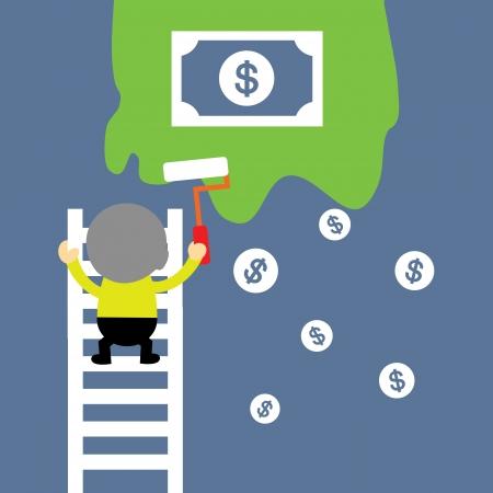 make money vector cartoon style for use Stock Vector - 21569205