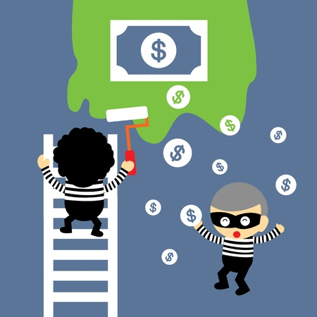 thief vector cartoon style for use Stock Vector - 21569280
