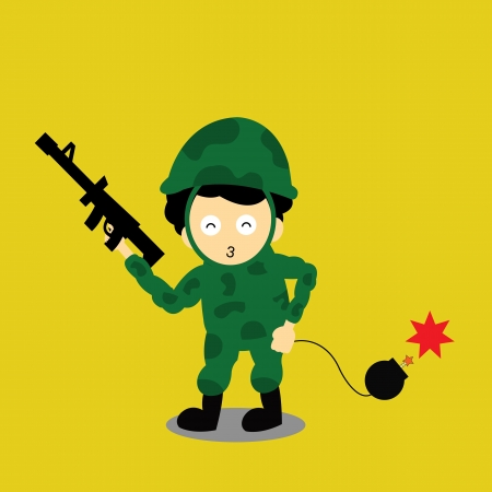 Soldier vector cartoon style for use Vector