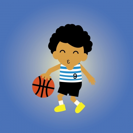 sport basketball vector cartoon style Vector