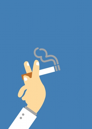 Smoking vector cartoon style for use