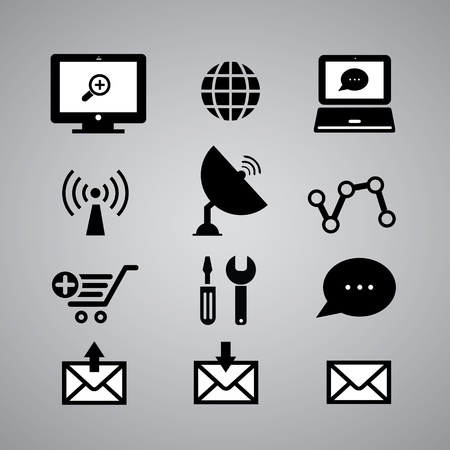 internet icon: internet icon on gray background