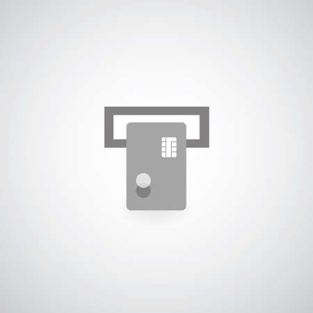 credit card symbol on gray background Vector