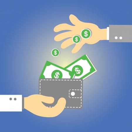 Wallet  money vector cartoon style Stock Vector - 21881155