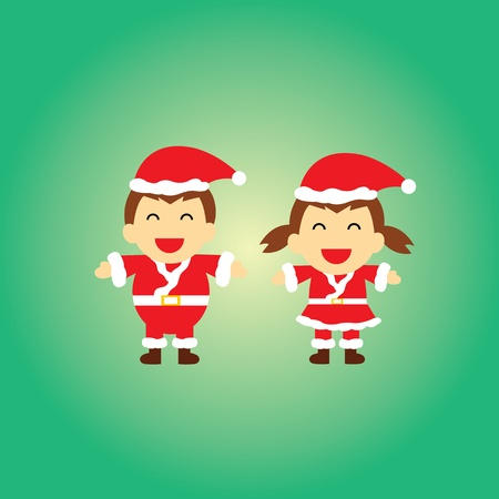 Santa claus vector cartoon style for greeting Vector