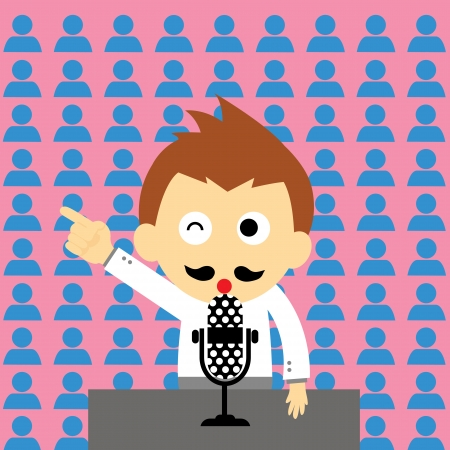 canvass: orator vector cartoon style for use Illustration