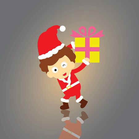 Santa claus vector cartoon style for greeting Vector