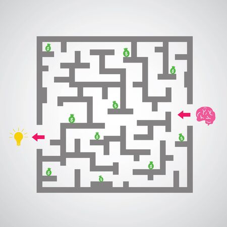 maze against on gray background. Vector