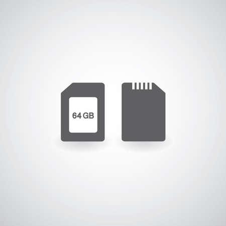 memory card symbol Stock Vector - 22526996