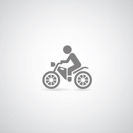 motorcross: S�mbolo de la motocicleta Vectores