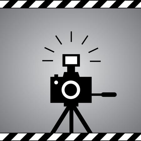 multiple image: black camera symbol in framework Illustration
