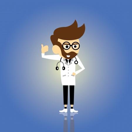doctor vector cartoon style for use Vector