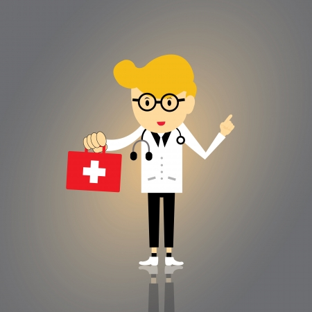 boy doctor: doctor vector cartoon style for use