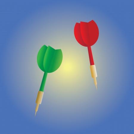 targeted: darts target vector cartoon style