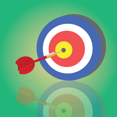 darts target aim vector cartoon Vector