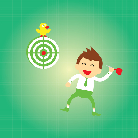 I have got target vector cartoon Vector
