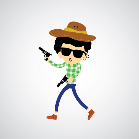 Cowboy vector cartoon for use Stock Vector - 22545783