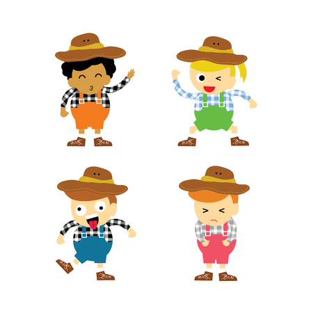 Cowboy vector cartoon character for use Stock Vector - 22545746