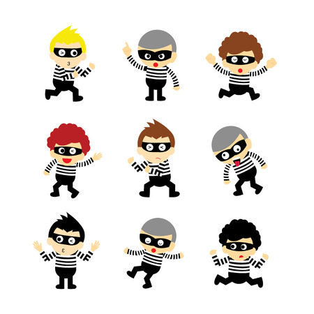 artful: steal vector cartoon on white background