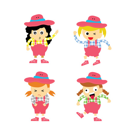 Cowboy vector cartoon character for use Stock Vector - 22545752
