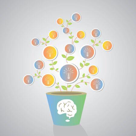 bulb light creative idea in a plant  Stock Vector - 23186225