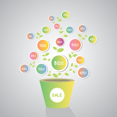 promotion sale growing in a plant Vector