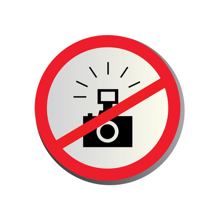 No photography allowed on white background Vector