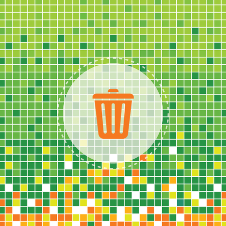 moses: bin symbol on green moses background