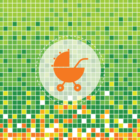 moses: stroller symbol on green moses background