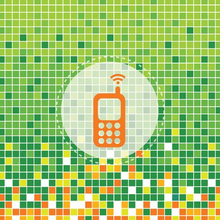 moses: mobile symbol on green moses background Illustration