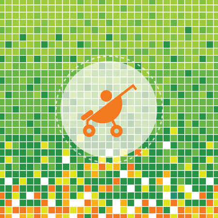 baby symbol on green moses background Vector