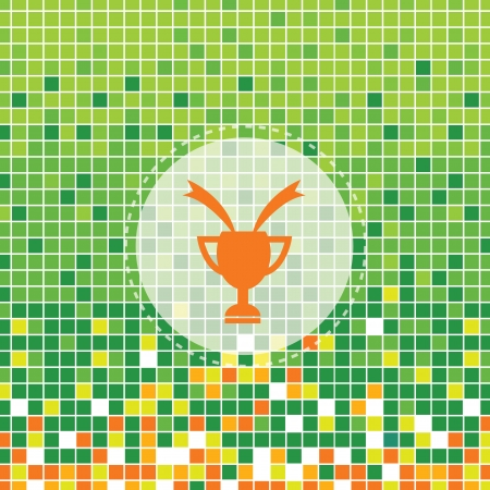 moses: champions cup on green moses background Illustration